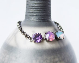 The Colour Purple  - Swarovski Layering Bracelet
