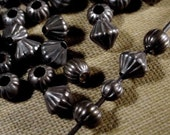 25 | 50 PC 3mm 4mm 5mm Mix Vintage Brass Bead Dark Patina Corrugated Spacer Brown Black Oxidized Bronze Natural Patina Jewelry Finding Lot