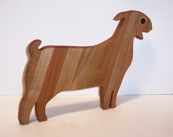 BOER GOAT Cutting Board or Cheese Board Handcrafted from Mixed Hardwoods