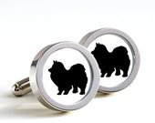 Chow Chow Dog Silhouette Cufflinks - Mens Cufflinks, Cufflinks for Dad, Husband, Wedding gift, Novelty cufflinks for him