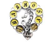 Harmony I Heart Singing Bracelet Singer Gift Musicians Music Charm Jewelry