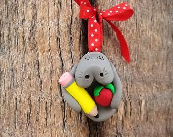 Teacher Manatee Ornament