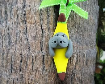 Banana Manatee Ornament