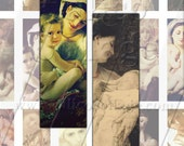 Mother and ChildrenCollage Sheet William Bouguereau Digital Collage Sheet 1x3in MicroSlide Size Image Sheet 187
