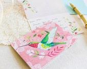 Hummingbird Notecard Set  | Blank Cards | Stationery | Katie Daisy