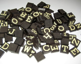 Vintage (1940s) Anagrams - 120  Letter Tiles for Playing or Crafting