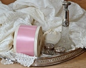 Gorgeous Roll Of French Pink Double Face Satin Ribbon