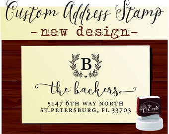 RETURN ADDRESS STAMP - Personalized Self Inking Wedding Stationery Stamper - Style 159