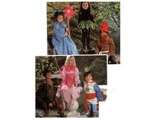 Kids Fairy Elf Gnome Costume Pattern Flower Fairy Tale Fantasy Robin Hood Pirnce Boys Girls Childrens Size 4 6 McCalls 8787 Sewing Pattern
