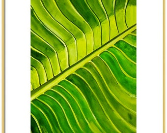 Watercolor Palm Frond Art Print-Palm Frond Painting-Palm Tree Art-Wall Art-Wall Decor-Tropical Decor-Chinoiserie Decor