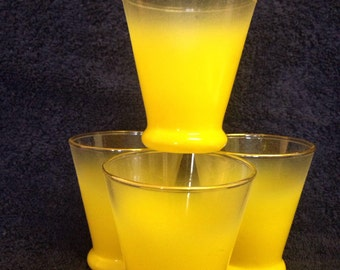 Blendo Juice Glasses Set of 4 Yellow