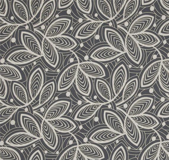 Dark Grey Shower Curtain, Hipster Leaf Print Shower Curtain, Amy ...