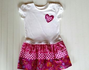 Size 5T Ruffle T Shirt dress