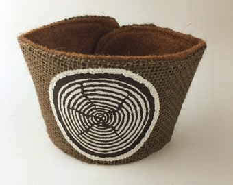 Slice of Wood Coffee/Beer Cozy with Gift Card Holder Option