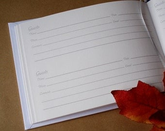EXTRA: Custom Printing on Pages for our Custom Bound GUEST Books