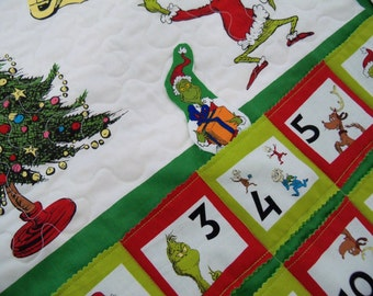 Advent Calendar The Grinch Holiday Wall Hanging Christmas Calendar