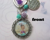 Personalized double sided keychains, family gifts, mother's day gifts, grandmother's gifts, photo keepsakes
