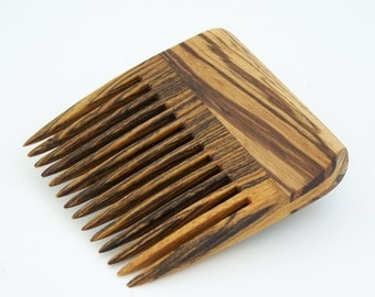 Zebrawood and Bocote Beard Comb (Handmde in USA) Z1  Gift for Him - 5th Anniversary - Father's Day - Gift for Boyfriend - Gift for Husband