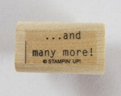 And Many More Stampin Up! Rubber Stamp #RS123