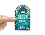 Bigfoot Sleep Under the Stars Sticker