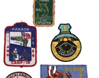 Vintage Boy Scout Patches, Set of Boy Scout Patches, Retro Boy Scout Patches, Boy Scouts 1960s, Instant Collection, Movie Props, Man Cave