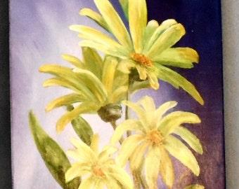 Daisy Burst Original Painting