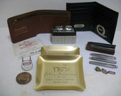 Vintage lot Kraft Advertising Premiums Pocket Knife Knives Ashtray Wallet Pins etc. Miracle Whip Employees Premium