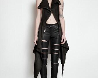FOX Leather Moto Waistcoat