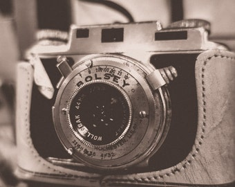 Vintage Bolsey 35 mm Camera Fine Art Print- Vintage, Nostalgic, Home Decor, Photography, Gift, Zen