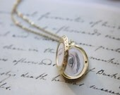 Wuthering Heights Lover's Eyes Miniature Hand-Painted Pendant Cathy & Heathcliff Locket Necklace Original Painting Emily Bronte