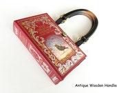 Classic Fairy Tales Book Purse - Hans Christian Anderson Book Cover Handbag - Fairy Tales Book Clutch - The Little Mermaid Book Purse