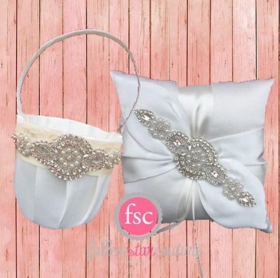 Flower Girl Baskets On Pinterest : Flower girl baskets ring bearer pillows on