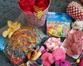 HUGE CLEARANCE Assorted Hair Accessories & Other Items for Props for Dolls or Child CLEARANCE