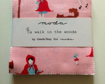 Rare.  A walk in the woods  charm pack by Aneela Hoey for Moda