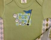 Grandpa's Little Caddy Plaid Bodysuit/Baby Clothes/Baby Boys' Bodysuit/Baby Girls' Bodysuit/Baby Shower Gift/Toddler tee shirt