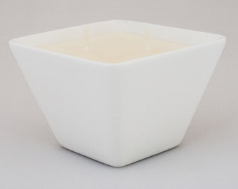 beeLUXE Candles - beeswax blend container candle - White Ceramic Container  - bee HEALTHY - beeLUXE