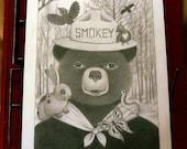Smokey the Bear - Original Drawing