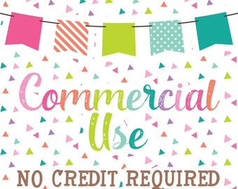 ONE SET - Commercial Use No Credit Required for Clipart & Digital Papers