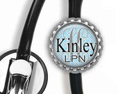ON SALE - Personalized Stethoscope ID Tag - Nursing Student, Gifts for Nurses, Student Nurse Gift, Graduation Gift, Stocking Stuffer