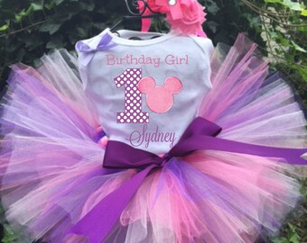 Pink Minnie Mouse Tutu Set - Birthday Tutu Outfit