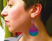 Big Sunset Teardrop Earrings