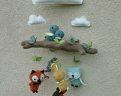 Mobile - Woodland Animals. Nursery, Baby, Decor, Gift, Reserved