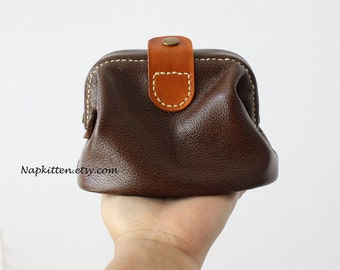 Leather clutch, leather purse, leather bag, leather pouch, leather makeup bag,leather cosmetic bag,leather wallet, leather coin purse