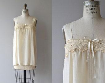 Lula silk chemise | vintage 1920s silk chemise | silk and lace 20s lingerie