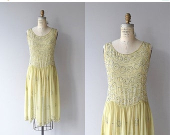 25% OFF.... Abbellimento dress | vintage silk 1920s dress | beaded 20s dress