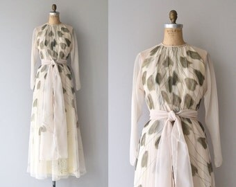 Chester Weinberg dress   vintage 1970s maxi dress   chiffon 70s maxi dress