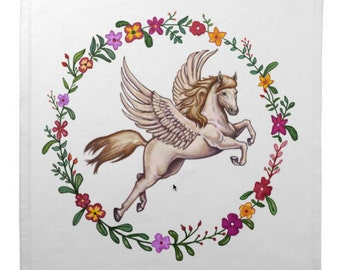 Flying Pegasus Cotton Tarot Cloth