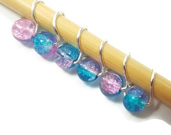 Stitch Markers Knitting - Cotton Candy Mobius - Stitch Markers - Small, Medium, or Large