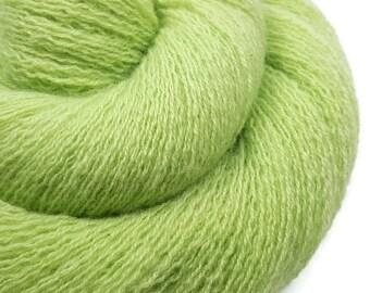 100% Cashmere Yarn - Celery - Cashmere Yarn - Recycled Lace