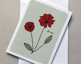 Poppy Mother's Day Card, Mother's Day Card, For Mom, Sale
